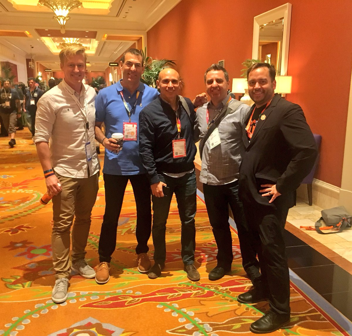 benmarks: Caught up in some awesome history happening this morning at #MagentoImagine - just missing @sherrierohde! https://t.co/i9X3CYqu8S