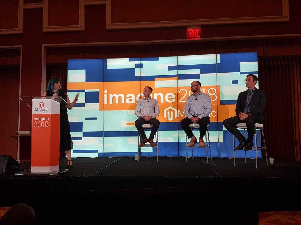 rlieser: @netz98 customer @rieseundmueller at the #magentoimagine on stage for B2B Customer Insights https://t.co/XJESWNUtGw