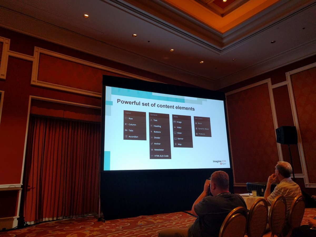igor_melnikov: Page Builder components #MagentoImagine https://t.co/2YeYnxP3LA