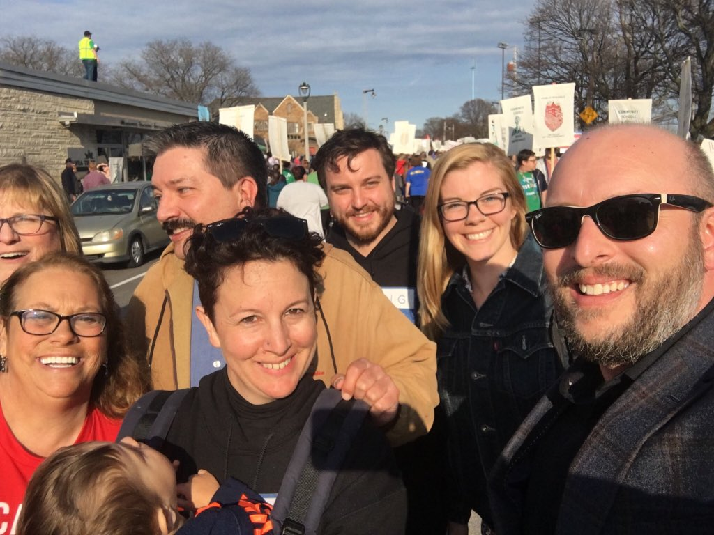 .@WIwfp & @IronStache team out at picket to defend our schools! #fightforfunding #fundourfuture https://t.co/VBH2rAvMEt