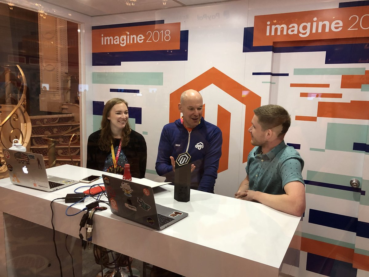 kab8609: Someone's in the booth... @bobbyshaw  @brentwpeterson @maddie3013 #magentoimagine https://t.co/Fdu9zkZ1r0
