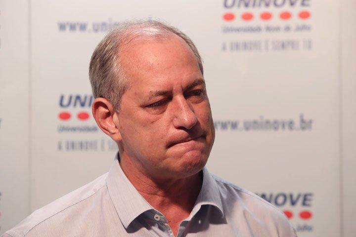@BroadcastImagem: Ciro Gomes nega chapa com Haddad: 'É preciso respeitar o tempo do PT'. Alex Silva/Estadão