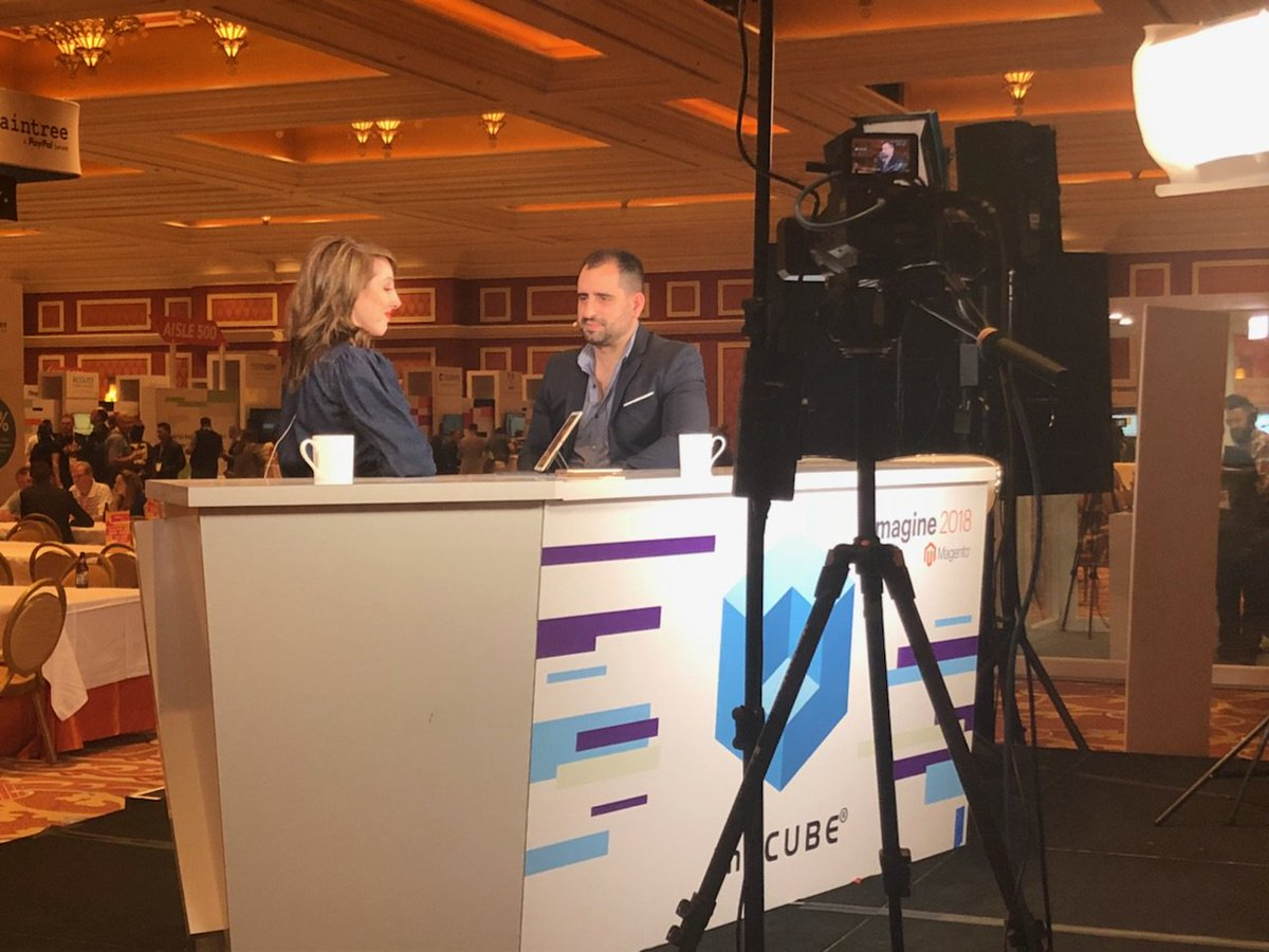 magento: Chief Digital Officer at Accent Group, Mark Teperson, in @theCUBE  at the #MagentoImagine Sponsor Marketplace https://t.co/Ik20kfi5xG