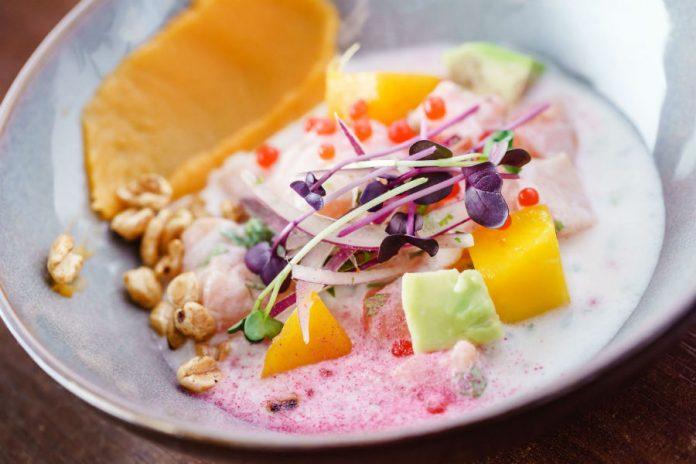 Ceviche de pechuga de pavo, palmito y mango https://t.co/YvUplPh4H5  https://t.co/OFmmsQwQO5
