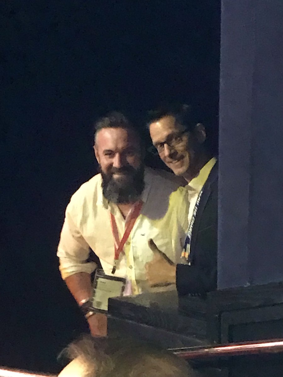 BobSchwartz: #MagentoImagine greatness up to no good just off stage ;-) @thebuzzlab @craigpeas #greathumans https://t.co/qx0A4pzvz8