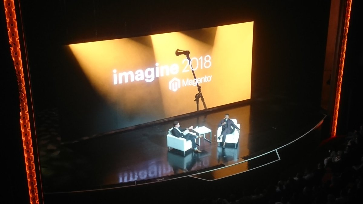 TadhgBowe: #MagentoImagine - if you ever want to learn about how to make an  entrance, you've just seen it! 👏 https://t.co/pIpcQYCTBN
