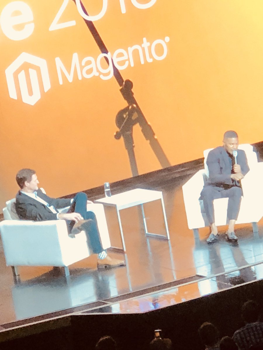 WebShopApps: Moment in time here people #MagentoImagine @jamiefoxxUS @mklave1 https://t.co/G0B3VENZih