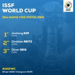 RT @ISSF_Shooting: 38 HITS OUT OF 40!  That's how you claim a gold medal! #ISSFWC https://t.co/1QYV6X2SIh