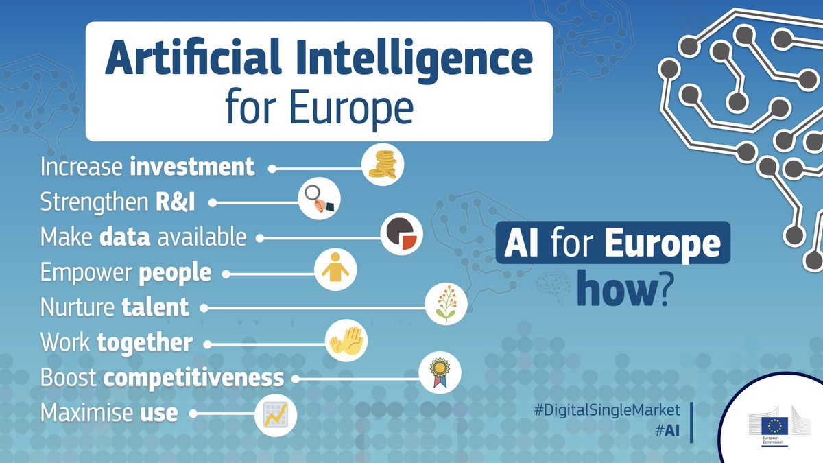 test Twitter Media - Boosting investments & setting ethical guidelines: the EU takes a major step forward to make the best of #ArtificialIntelligence  Press release: https://t.co/DJRrv3TcNO Factsheet: https://t.co/uztBNHf9YX  #AI #DigitalSingleMarket https://t.co/SfUWOUkopz