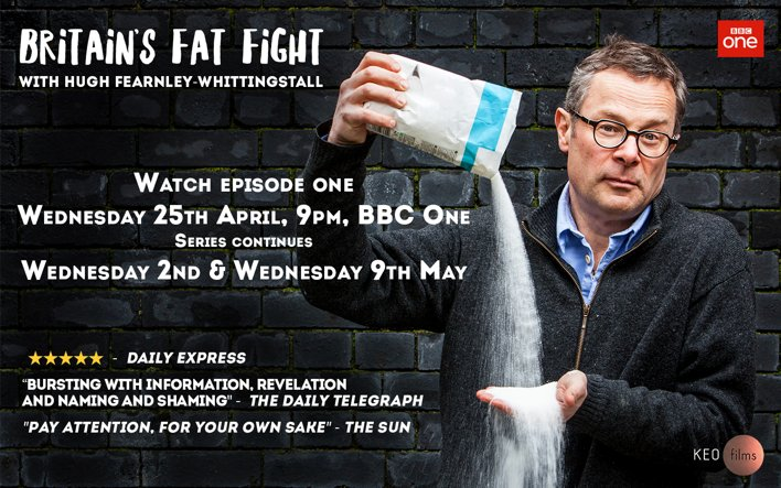 Get watching @HughFW's #BritainsFatFight TONIGHT on @BBCOne - on in 15 minutes! https://t.co/O9CDjROkpi