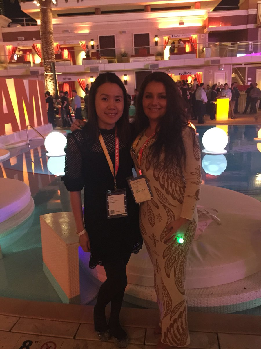 lindykyaw: Great to meet pretty @JamieMariaS  and looking forwards to journey together #MagentoImagine #LegendaryParty https://t.co/WTgnMVFofE