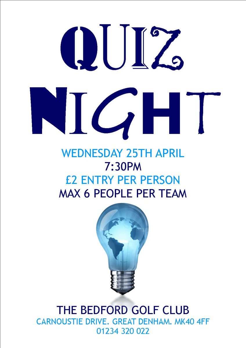 test Twitter Media - It's QUIZ NIGHT! Join us in the bar from 7:30pm this evening, everyone welcome! #QuizATheBedford https://t.co/8Yde6WQHF0