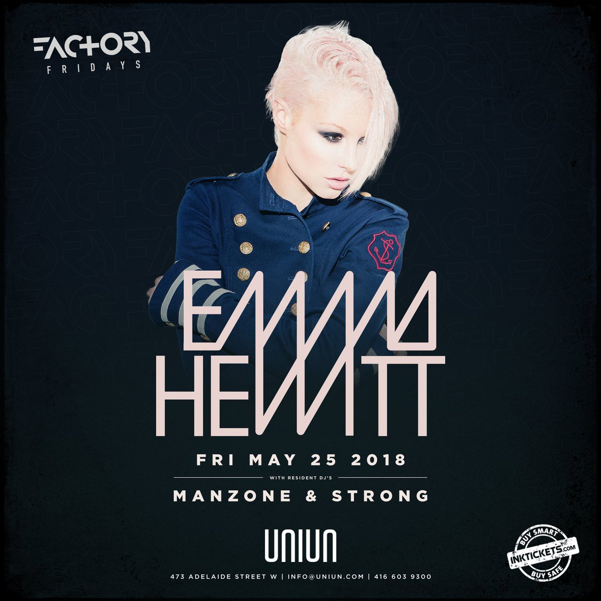 test Twitter Media - JUST ANNOUNCED: @emhewitt will be our special guest inside #FactoryFridays on May 25th with @ManzoneStrong.  Tickets are on sale now - grab them before it's too late: https://t.co/ydUkLr9WxW https://t.co/MQRu0STZRj