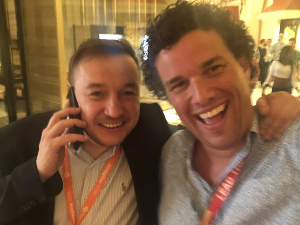 mattmac: With @agaltsow the hardest working man in #Magento @atwixcom #MagentoImagine https://t.co/SEkWrI7wIt