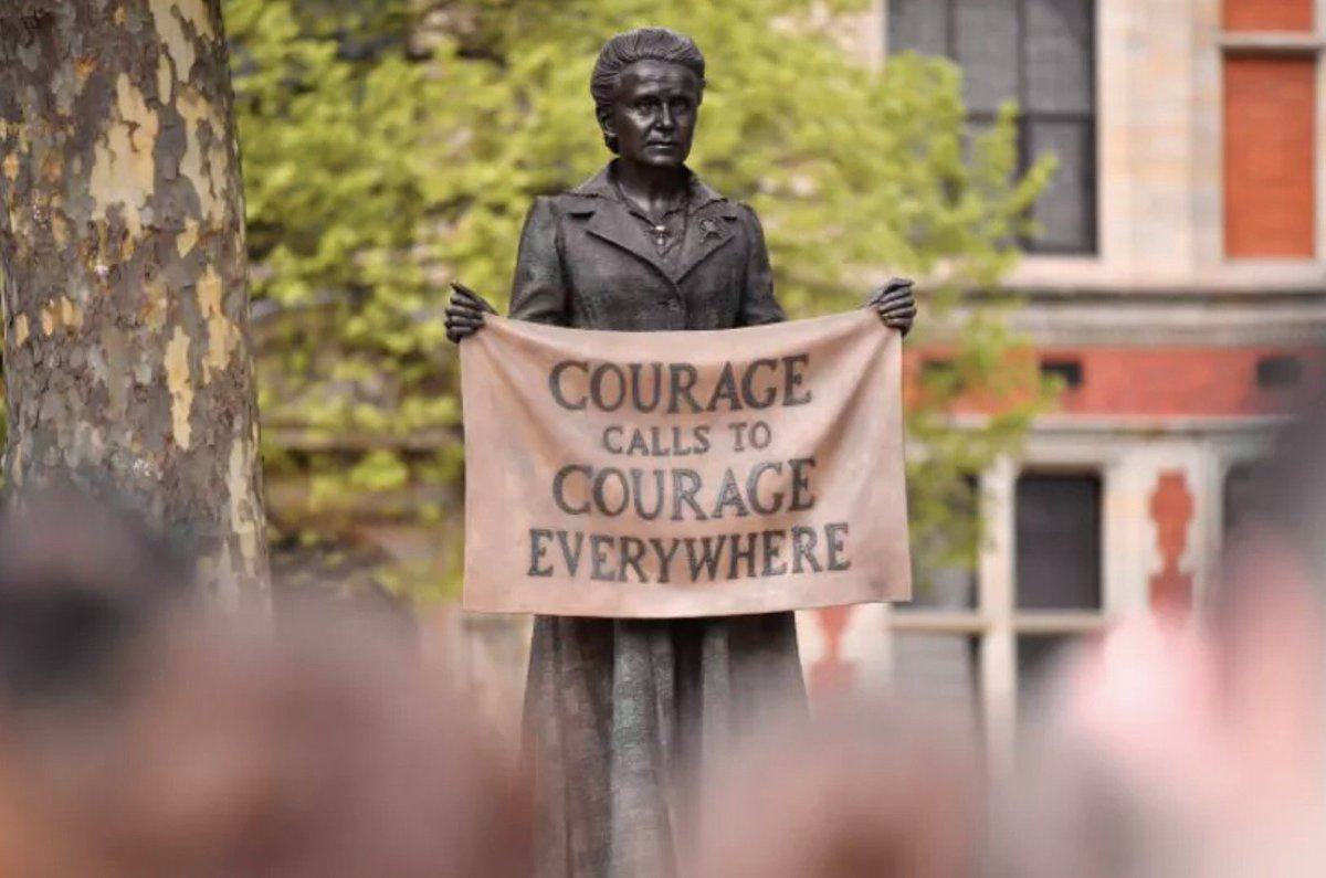 test Twitter Media - Amazing to see the statue in Parliament Square of the incredible suffragist Millicent Fawcett - who fought tirelessly for women's right to vote in the 19th and early 20th centuries! #millicentfawcett #suffrage #100years  https://t.co/bkJ5nUuCe1 Image: Getty https://t.co/T0BVREKuPU