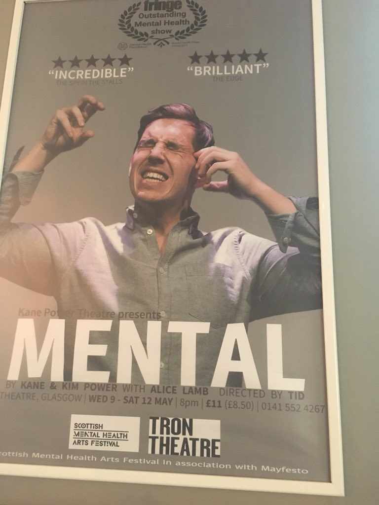 RT @KnaiveTheatre: Well looky here! Highly recommend this!   @thementalshow @TronTheatre   #theatre #glasgow https://t.co/BDCcDuRlmQ