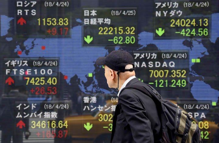 @BroadcastImagem: Após queda em NY, bolsas asiáticas fecham majoritariamente em baixa. Koji Sasahara/AP