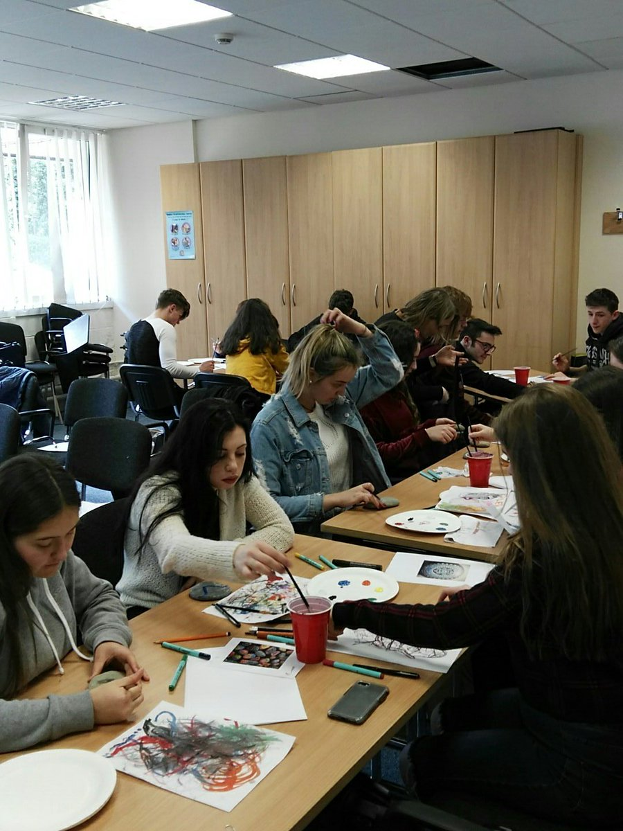 test Twitter Media - Our visiting #TYStudents having a relaxing art session with @k_pyrz after lunch! @UCC @tyyearireland https://t.co/YokANSVJ6X
