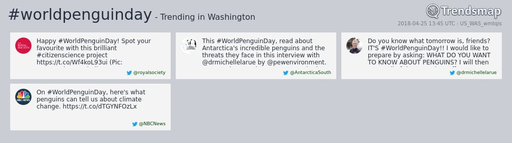 #worldpenguinday is now trending in #DC  https://t.co/mZcjXy1tJo https://t.co/7eGYxc6HNd