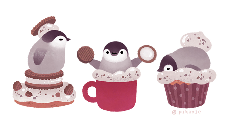 RT @pikaole: Cookie & Cream & Penguin  #WorldPenguinDay 🐧 https://t.co/jjT0jlJs98
