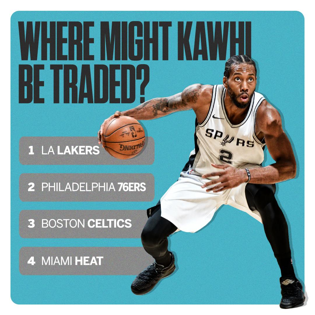 If Kawhi gets traded, where do you see him going?   Our experts have some ideas: https://t.co/xIxZmG5I4L https://t.co/DAIX60BS2i
