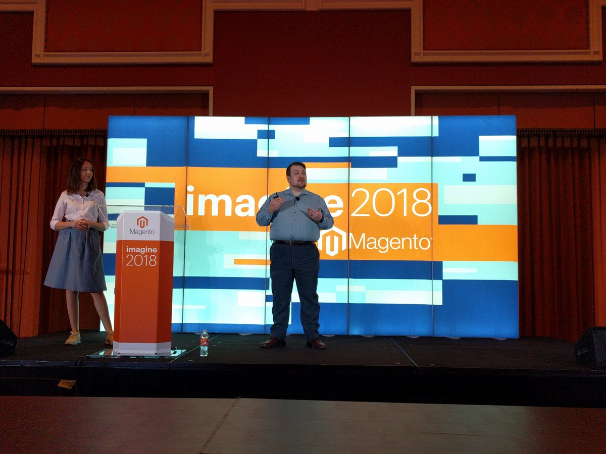 mish_capish: @syvokonenko and @billygilbert dropping knowledge about @magento Cloud projects #MagentoImagine #Imagine2018 https://t.co/c54Y1qjqn8