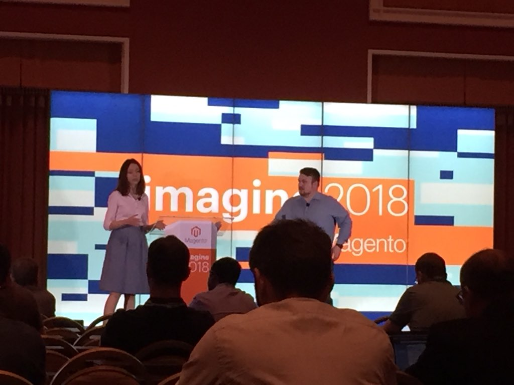 vrann: Nadiia Syvokonenko on #magento cloud at #MagentoImagine https://t.co/eY38TSRAuY