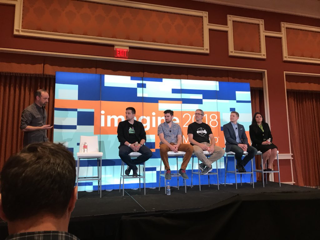 TravBern: All-star ensemble at #MagentoImagine. Getting smarter by osmosis just sitting in the same room as these giants. https://t.co/sovwLegcWH