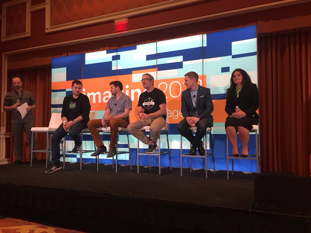 artur_wala: #PWA discussion panel at #Magentoimagine with @dygudamarcin @Falkowski @jissereitsma @bobbyshaw @JamieMariaS https://t.co/OmNoUjW753
