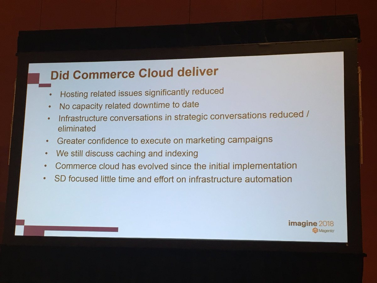 benjaminrobie: Did the @Magento Commerce Cloud deliver? @JonTudhope from @SomethingDigitl explains. #MagentoImagine https://t.co/0egQTbAgT4