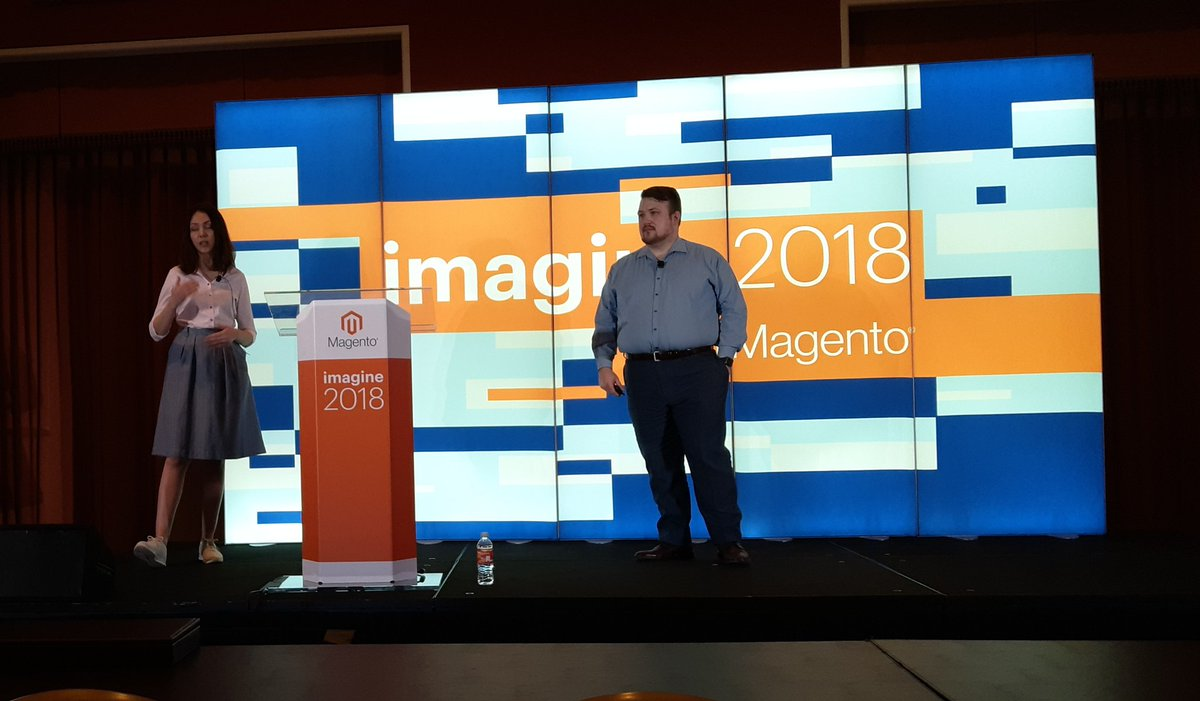 MrKAndy: Nadiia and Billy present how to properly implementing a project on Magento Commerce Cloud #MagentoImagine https://t.co/V52kX8Plaq
