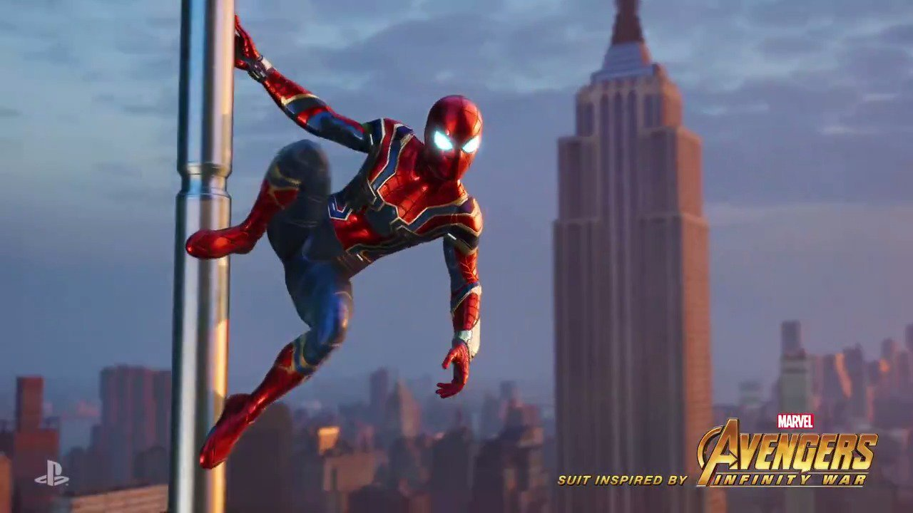Marvel's #SpiderMan on PS4 'Iron Spider Suit' has been revealed! https://t.co/RsxEmqnU7Q