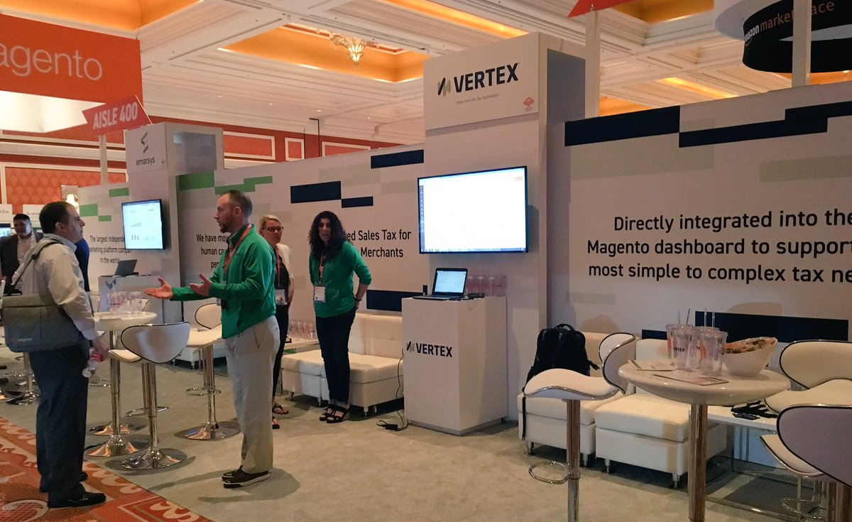 vertexinc: We hope you had a chance to visit us at #MagentoImagine. Pick up some swag before heading out at booth 421. https://t.co/w1ZhHYv8Ng