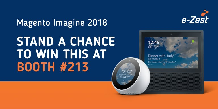 ezest: Booth #213 has prizes, ideas, and plans! Stop by today! #MagentoImagine2018 #MagentoImagine #imagine2018 #magento https://t.co/ardi19h9k4