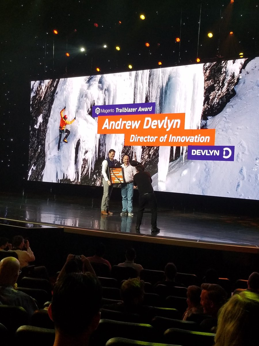 magento: Congrats to #MagentoTrailblazer Andrew Devlyn, Director of Digital Innovation at @Opticas_Devlyn! #MagentoImagine https://t.co/SWUVjn6ysw