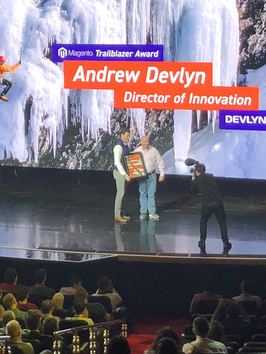 AmandaF_Batista: Congrats Andrew Devlyn on your #magentoimagine Trailblazer Award! https://t.co/7V4v7YyTgg
