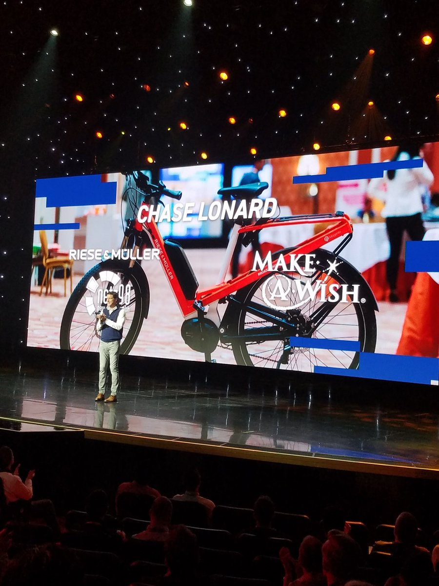 magento: Congrats to Chase Lonard! Winner of the @RieseMullerNL + @netz98 bike auction to benefit @MakeAWish. #MagentoImagine https://t.co/a74oxFD9qb
