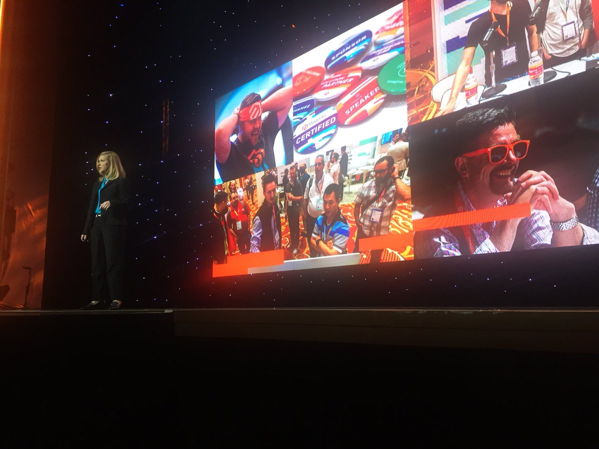 DCKAP: Welcome @awatpa - chief marketing officer on the stage #MagentoImagine https://t.co/jxXJkTRqVs