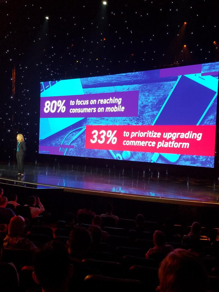 magento: Top 2018 commerce priorities: n80% focused on mobile & 33%  updating commerce platform @awatpa #MagentoImagine https://t.co/HxhlXAUBeu