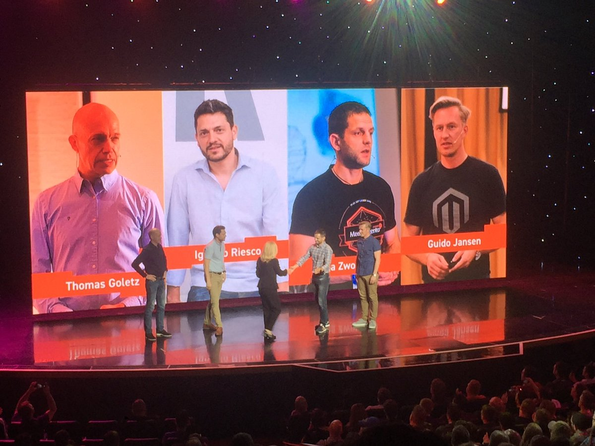 Falkowski: New Magento Association with @gibson944 @ignacioriesco @snowdog @guido at #MagentoImagine https://t.co/Tg1sXDb9hD