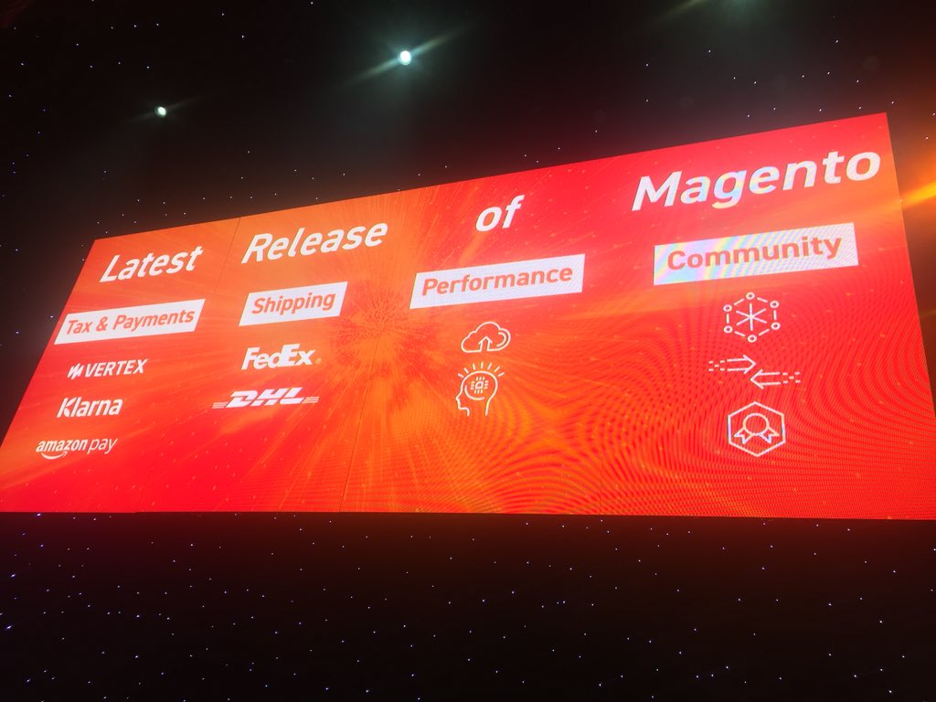 DCKAP: @jasonwoosley_mg announcing Latest release of @magento #magentoimagine https://t.co/eCzfWOtxIo