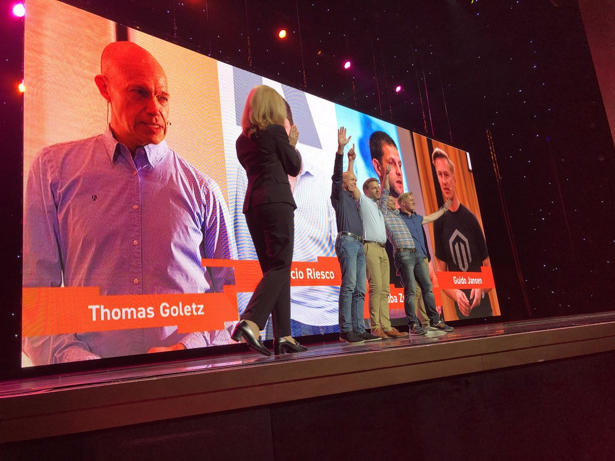 slkra: Another great moment of recognition. @meetmagento crew so deserve it. Great job! #MagentoImagine https://t.co/lLQbZwMlkt