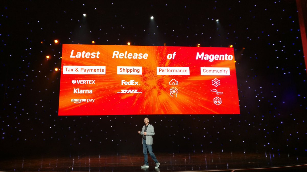 midimarcus: Talking about latest #Magento release improvements presented by @jasonwoosley_mg #MagentoImagine https://t.co/c7cVr5eyMb