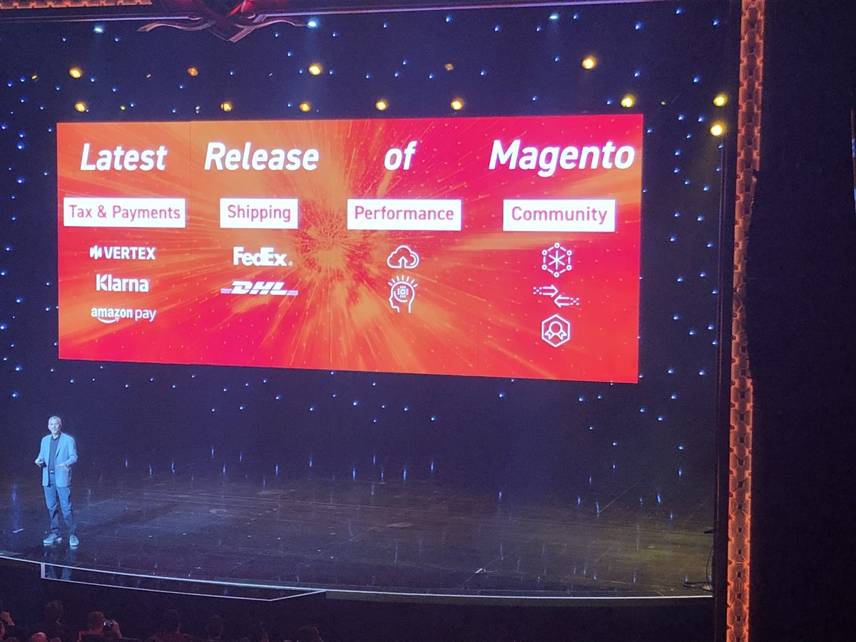 AmandaF_Batista: New @Magento release available May 2! Woo hoo! #MagentoImagine https://t.co/hOafTtwpRt