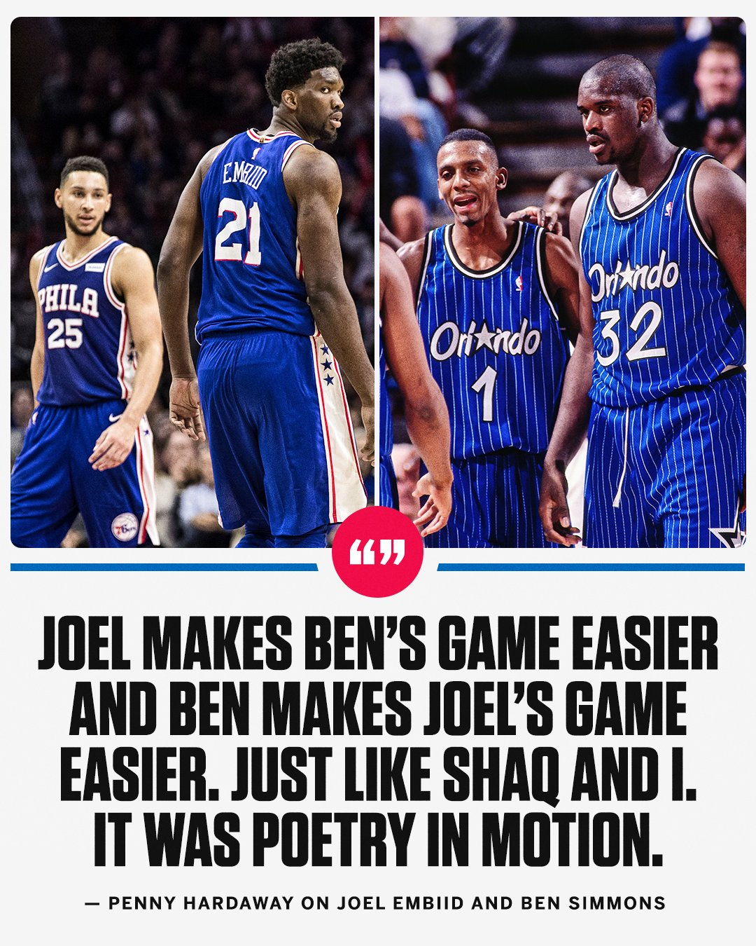 Simmons and Embiid ... like magic.  (Just ask Penny) https://t.co/2BRFNuj52s