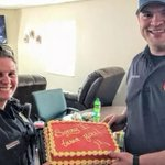 Ohio police officer gives firefighter apology cake: 'Sorry I tased you'