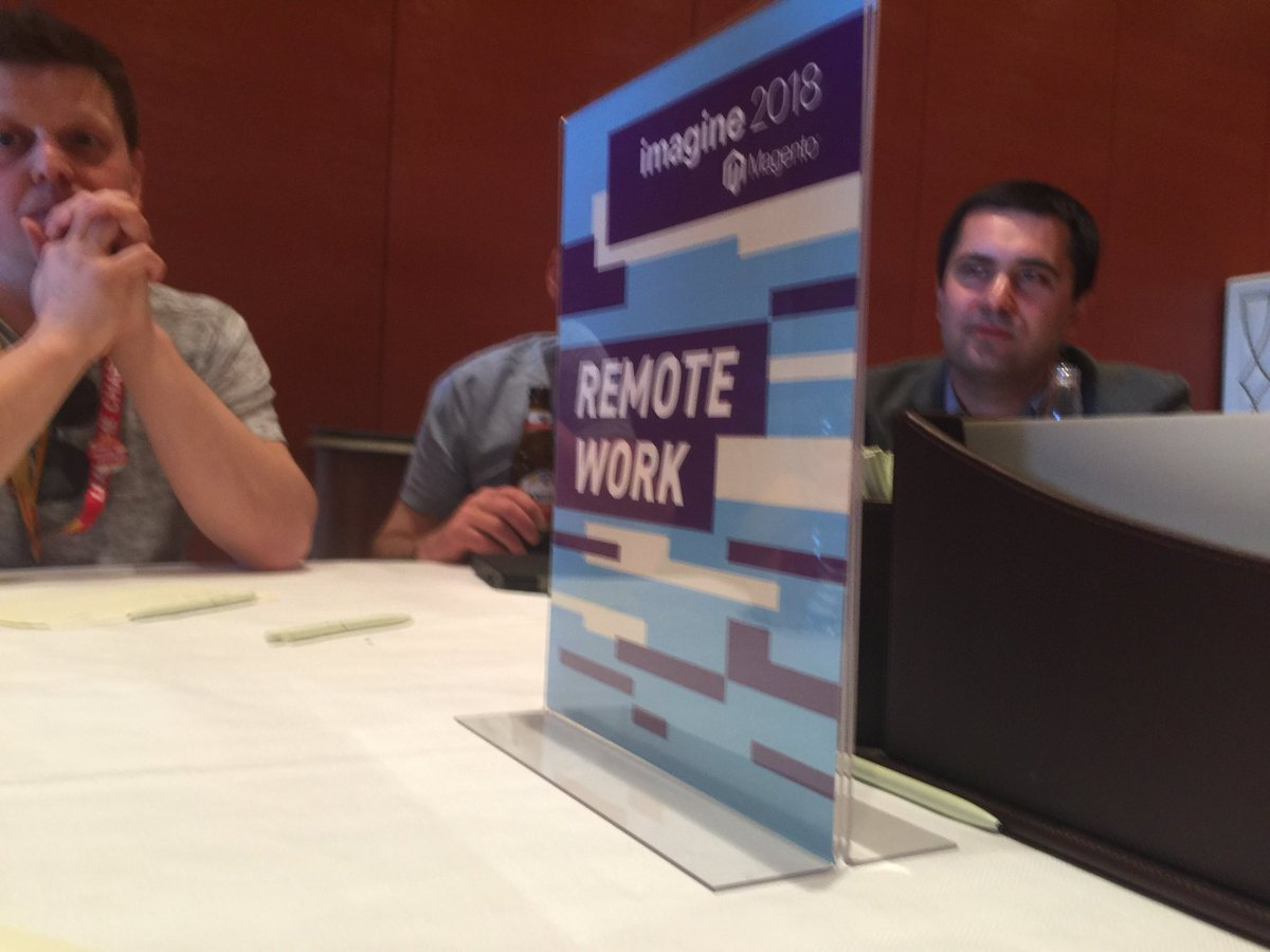 mbalparda: Amazing discussion going on now at the #devExchange #magentoimagine #remoteworking https://t.co/yeGTfiEZ2k