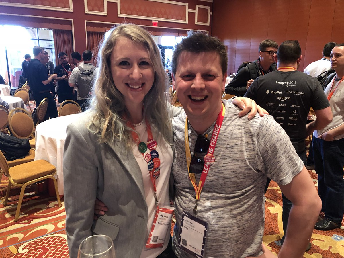 p3mbo: It's been a long time coming but I finally met @UXdanielle 😍😍 #MagentoImagine #PicOrItDidntHappen https://t.co/LnDcXe0NJ0