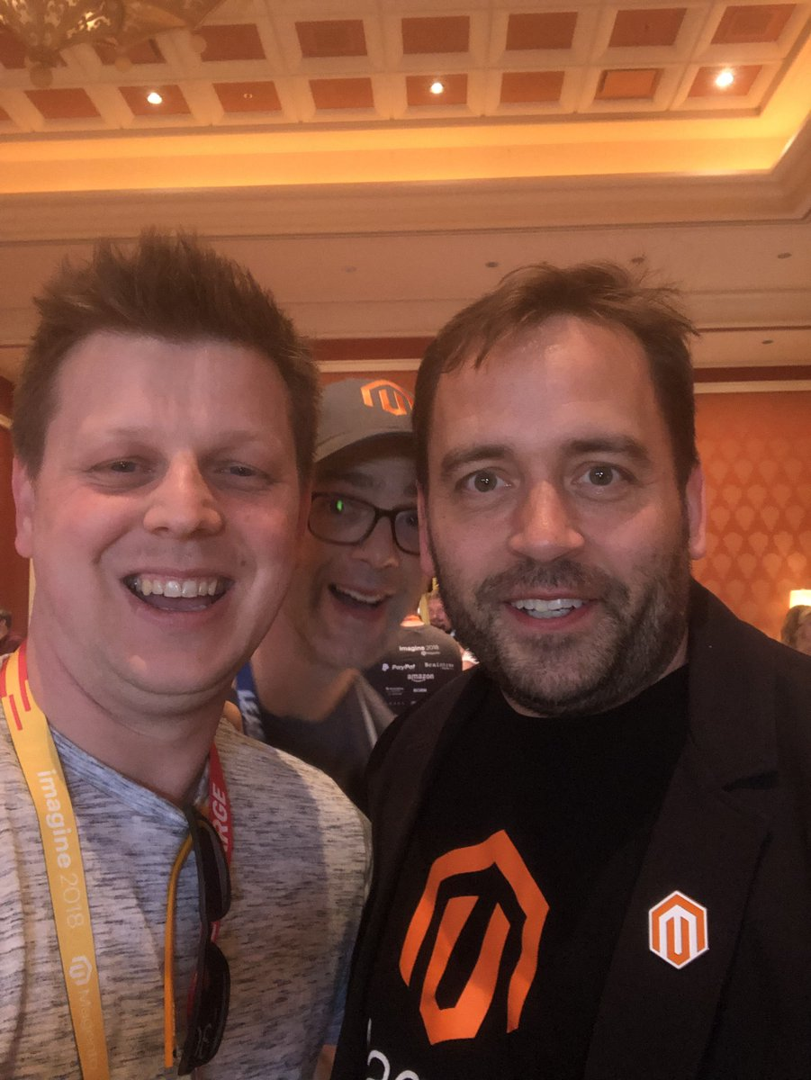 p3mbo: Standard selfie with @benmarks ft. Special guest @TadhgBowe #MagentoImagine . It's been a blast! https://t.co/r4OncKPZtB