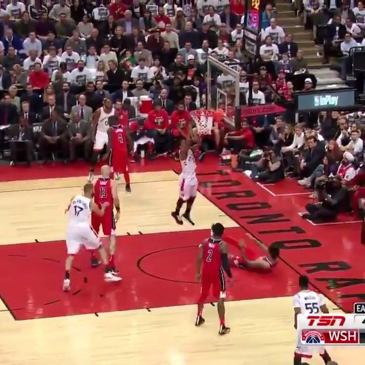 Kyle Lowry posts 17 PTS, 10 AST in the @Raptors Game 5 win at home! #WeTheNorth #NBAPlayoffs https://t.co/yIOw7EkTUB